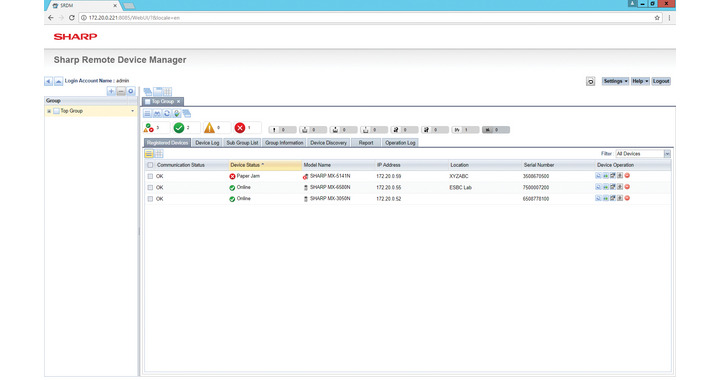 Sharp Remote Device Manager - SRDM3 - Solutions - Document
